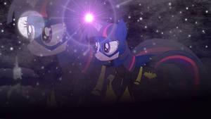 Twilight Sparkle as Batmare (desktop wallpaper) by Joeycrick