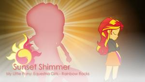 Sunset Shimmer - MLP:EG - Rainbow Rocks Wallpaper