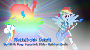 Rainbow Dash - MLP:EG - Rainbow Rocks Wallpaper