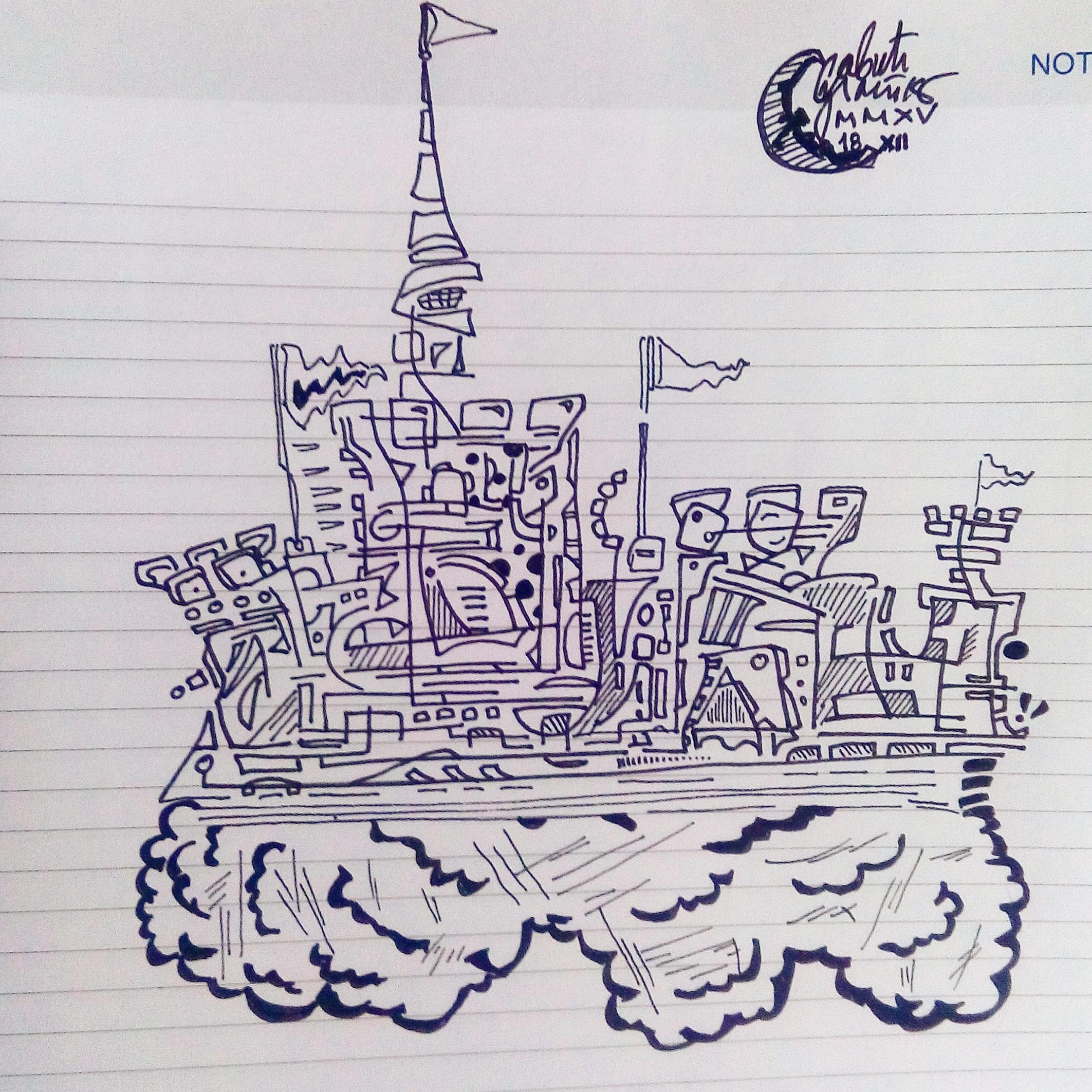Morning doodle - 18. XII '15 - Castle by zlajonja