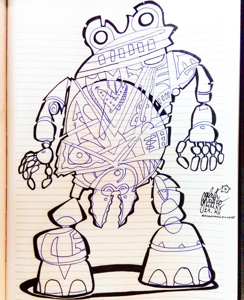 Morning doodle - Domo Arigato Mr. Robato by zlajonja