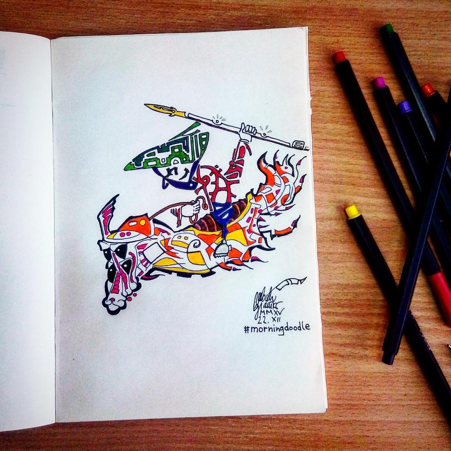 Morning doodle - 22. XII '15. - Hunt by zlajonja
