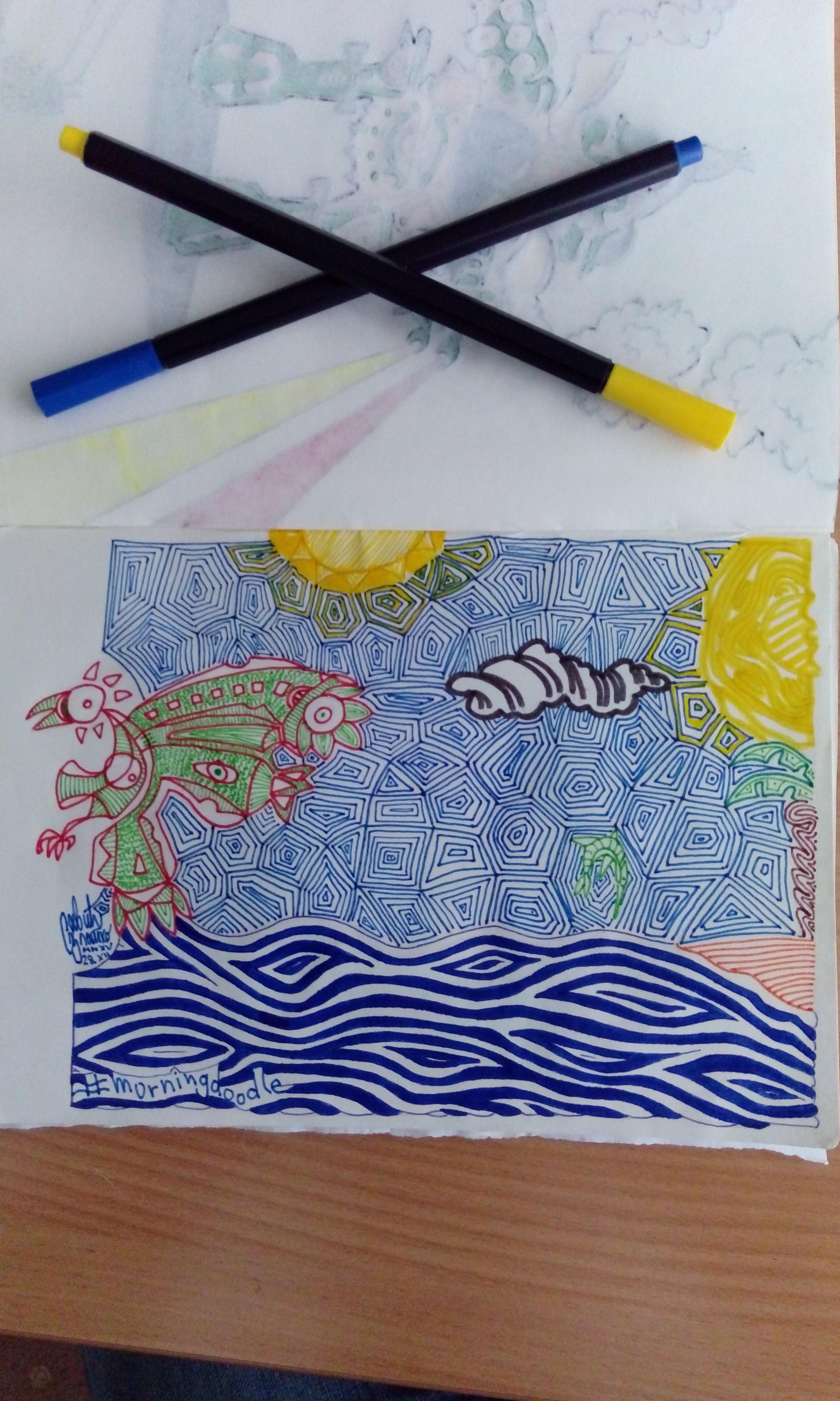 Morning doodle - 28. XII '15. - Bird of Paradise by zlajonja