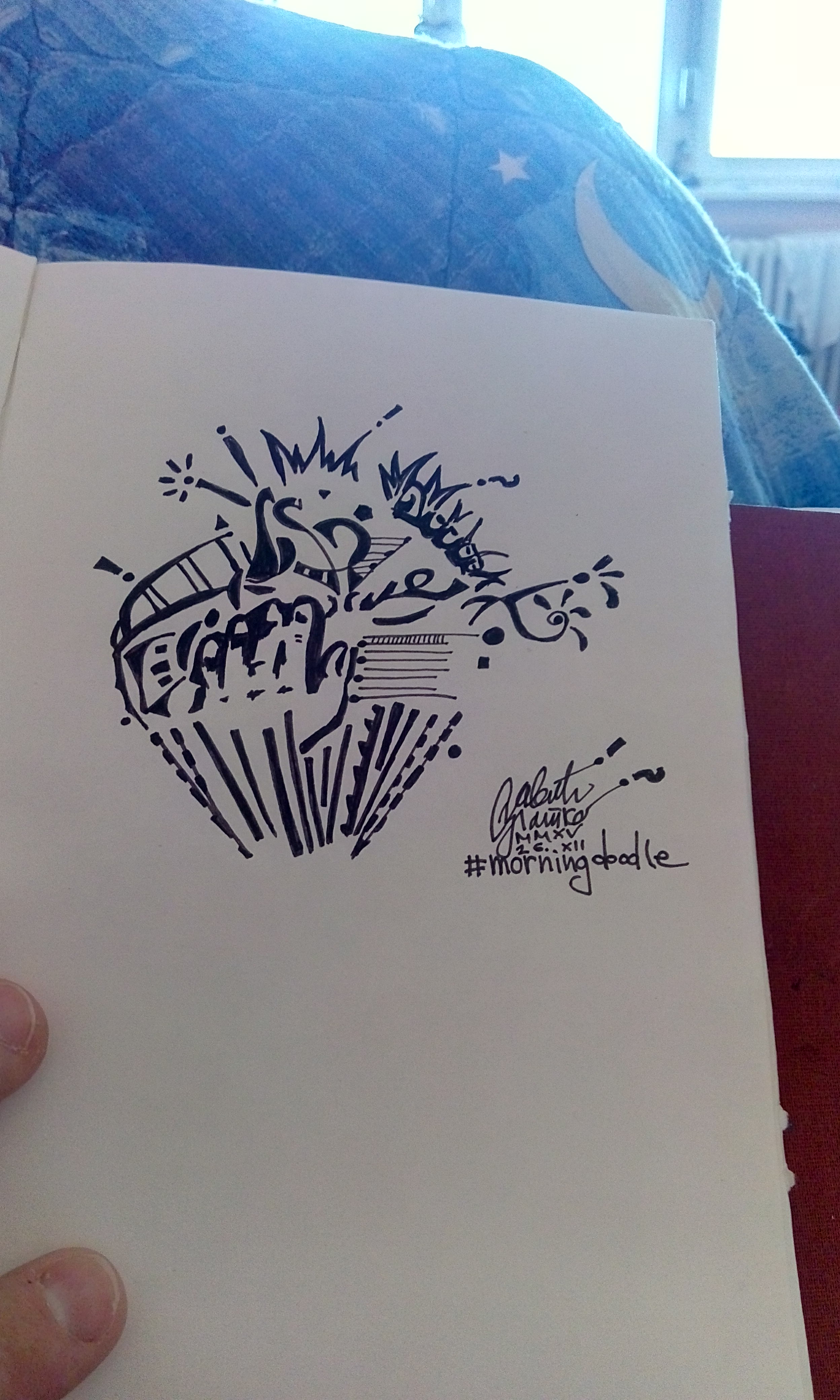 Morning doodle - 26. XII '15. - Headache by zlajonja