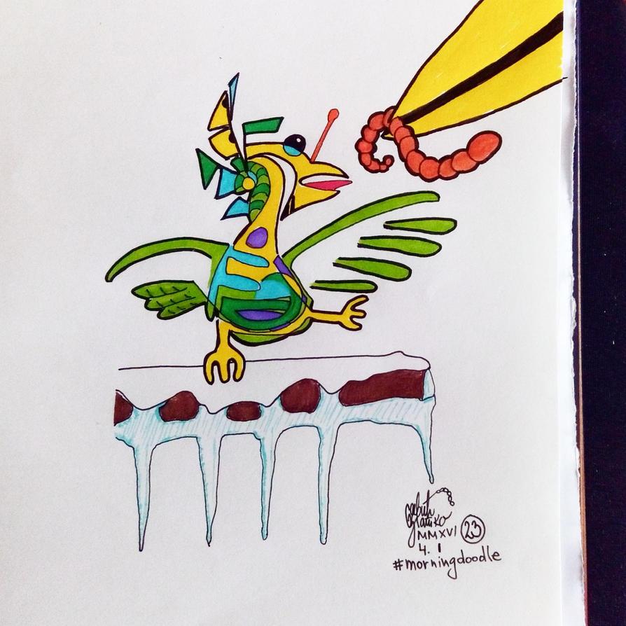 Morning doodle (23) - 4. I '16 - It's feeding time by zlajonja