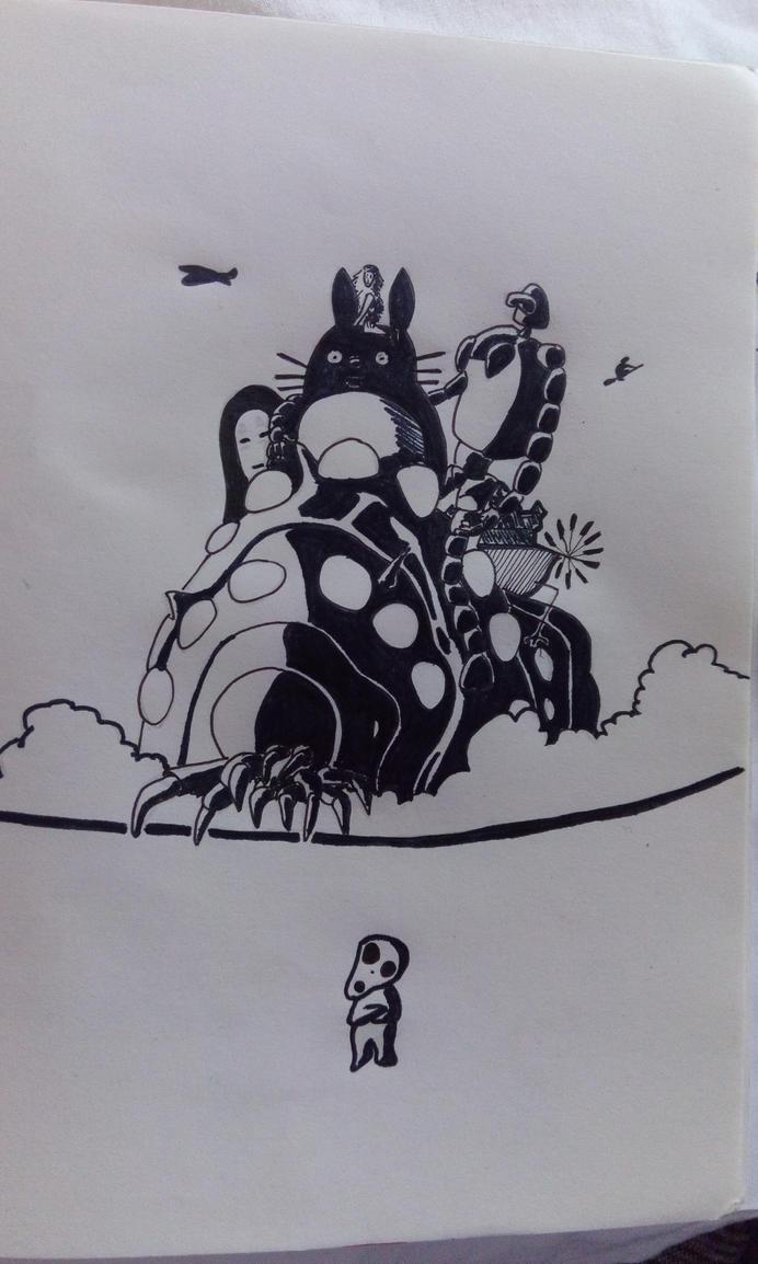 Happy b-day Mr. Miyazaki! by zlajonja