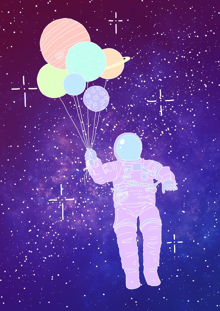 Astronaut Colour by Vossen-Art