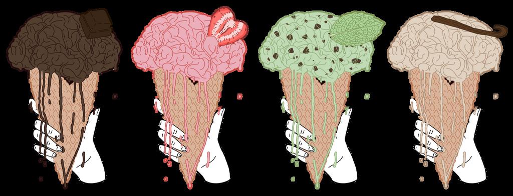 Ice Cream Brain by Vossen-Art
