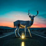 Glowing Street Lines Photoshop Tutorial