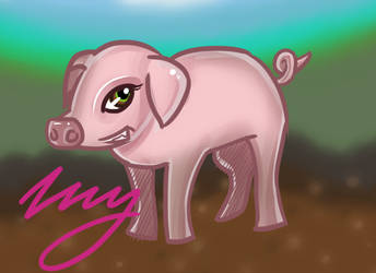 Piggy for Mouseygirl123 by Zhyrios