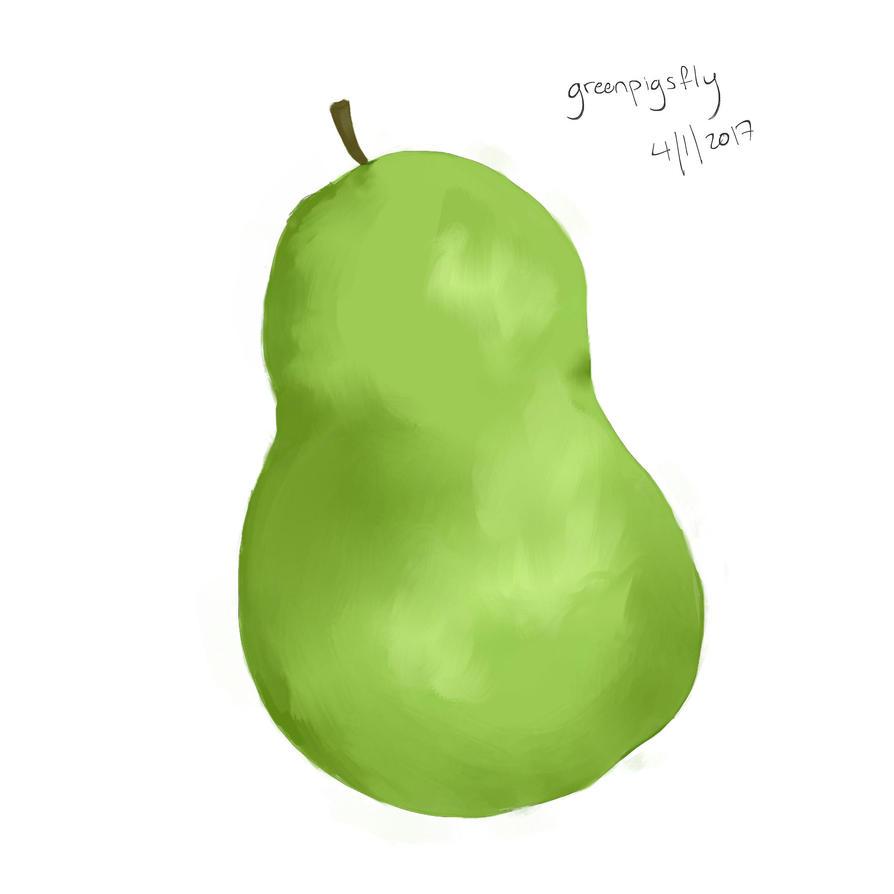 Pear by greenpigsfly