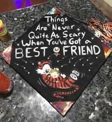 Calvin and Hobbes Graduation Cap