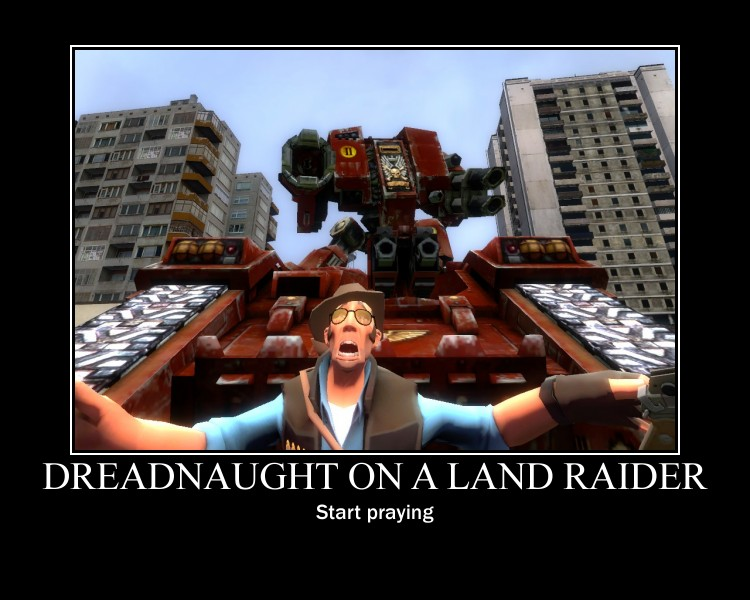 Dreadnaught on a Land Raider by AAGGRESSS