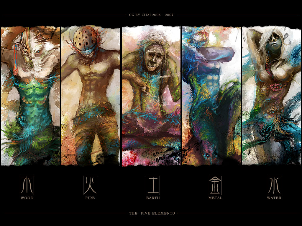 Five Elements Art : The five elements by bluechai on deviantart