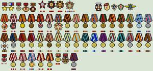 [Work In Progress] Russian Medals by Luke27262