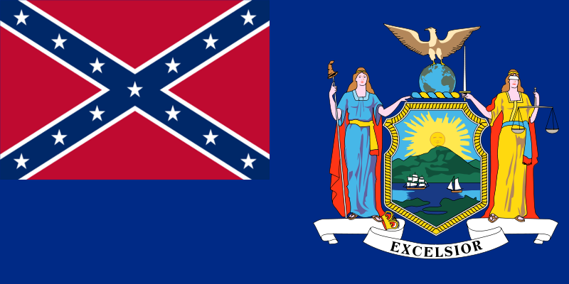 confederate new york flag by luke27262 on deviantart