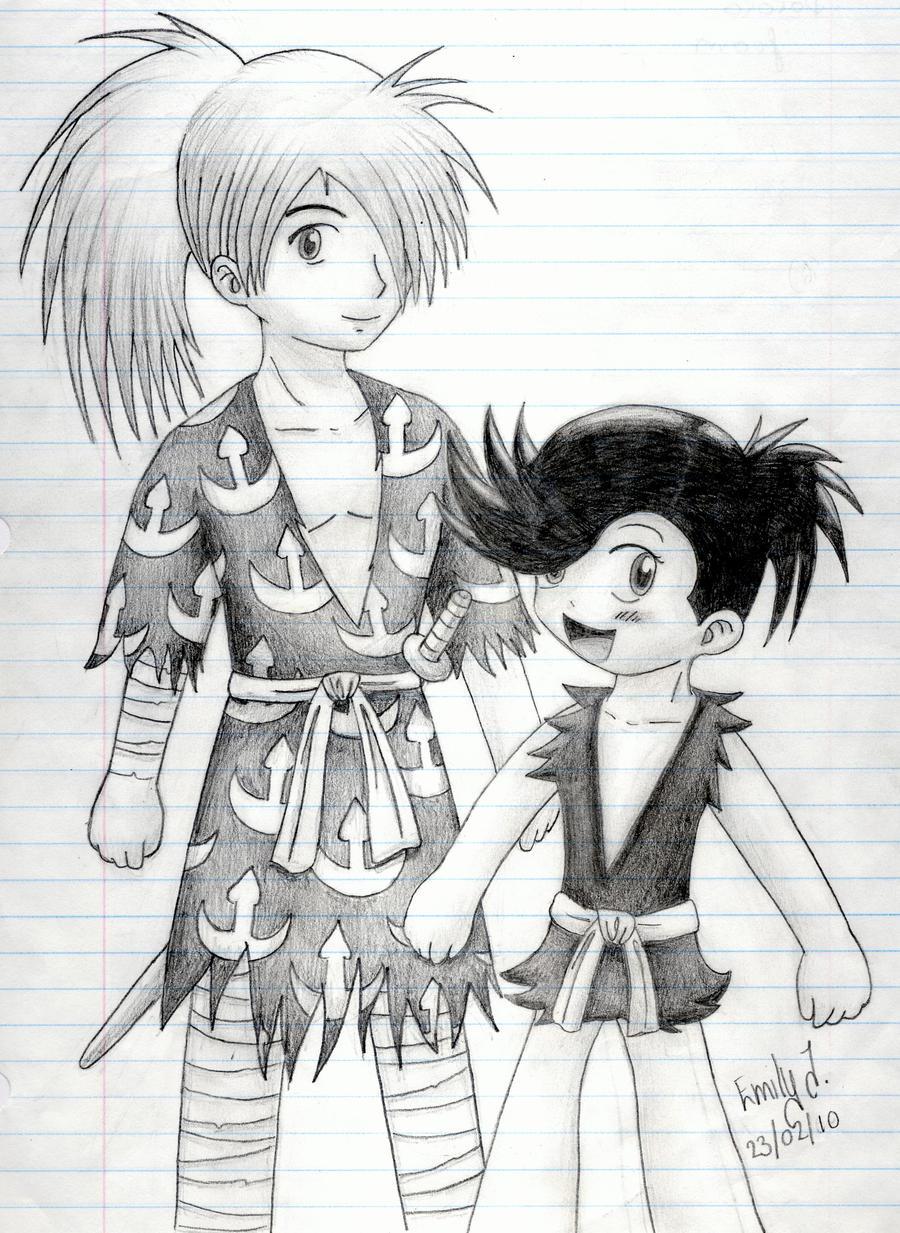 dororo and hyakkimaru by cheerio38010 on deviantart