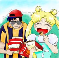 Usagi and Seiya's Nervous Date by UsagiYoukai3