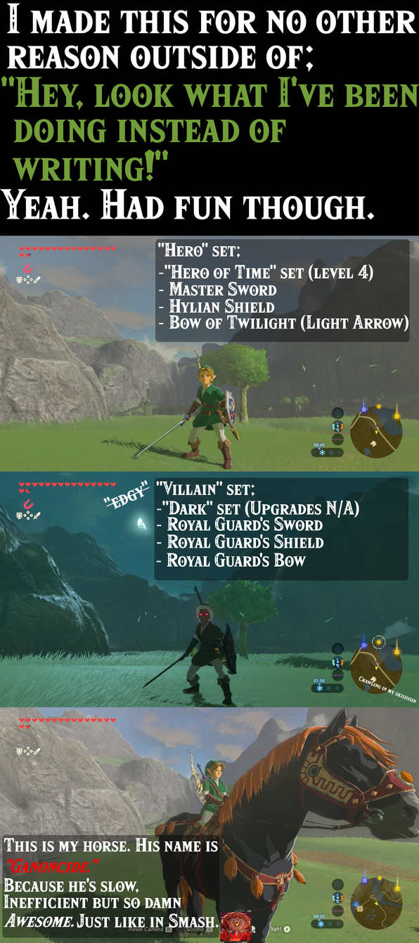 I've been playing Breath of the Wild by T-on-DA