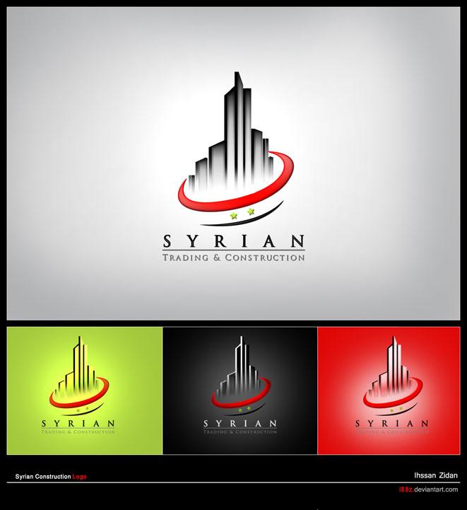 Syrian Construction Logo by i88z