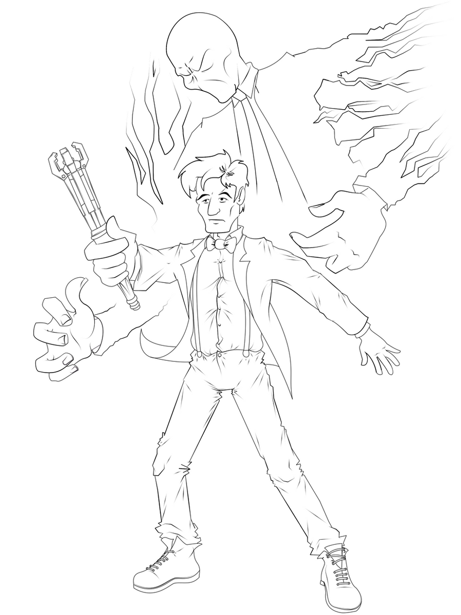 Line Drawing Of A Doctor : Doctor who the slender man line art by themasterd on