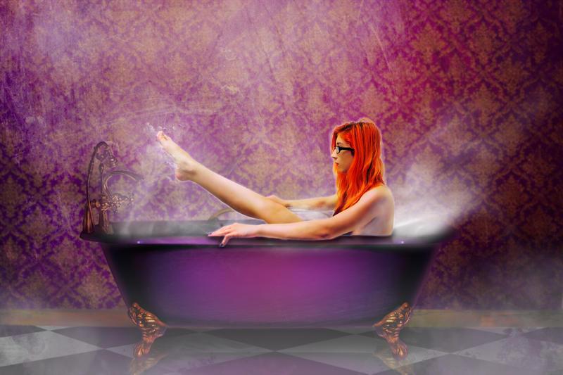 Purple Bath by ladycornicula
