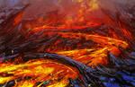 fiery river