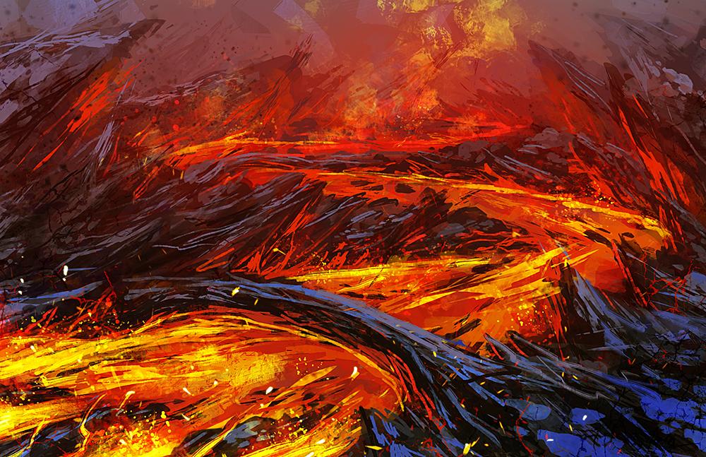 fiery river by AnekaShu
