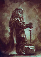woman dwarf by AnekaShu