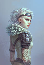 Post-apocalyptic girl by AnekaShu