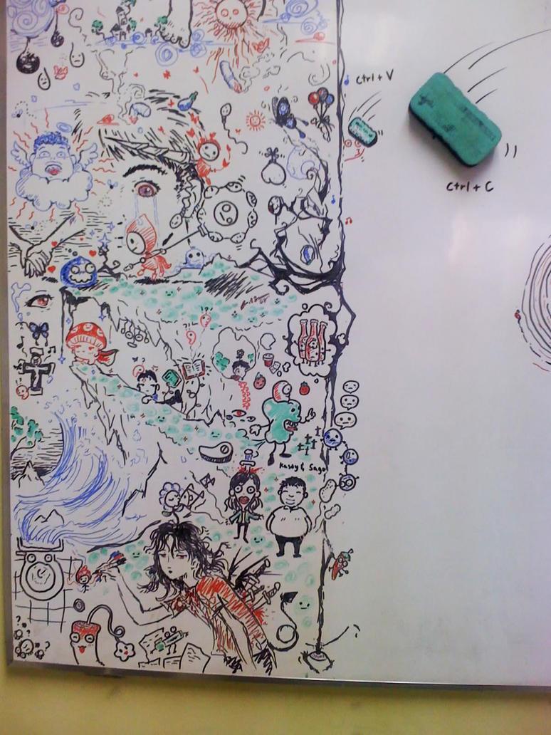 dry erase wallpaper