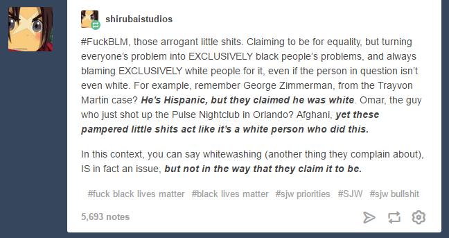 Re: BLM hijacking Orlando Vigil for Pulse Shooting by SilverKazeNinja