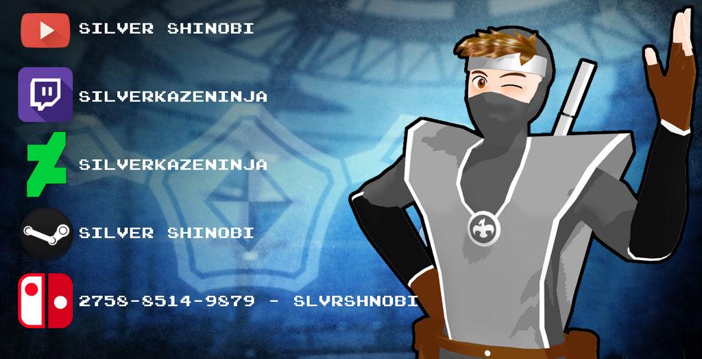 Silver Shinobi - Find Me On Social Media!