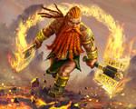 Fire dwarf - an illustration done for Spellweaver