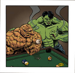 Thing-hulk Billard-by-contralex by contralex