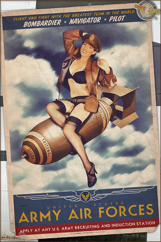 Propaganda Pinups - Bombs Away! by warbirdphotographer