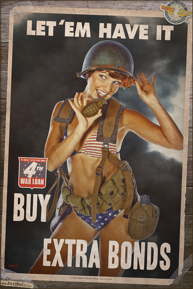 Propaganda Pinups - Let 'em Have It! by warbirdphotographer