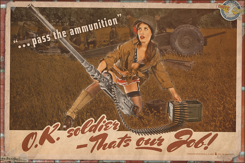 Propaganda Pinups - Pass the Ammunition! by warbirdphotographer