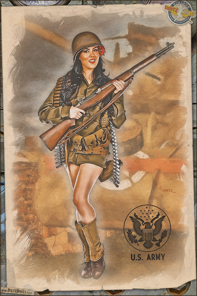 Pinups - Army Infantry by warbirdphotographer on DeviantArt