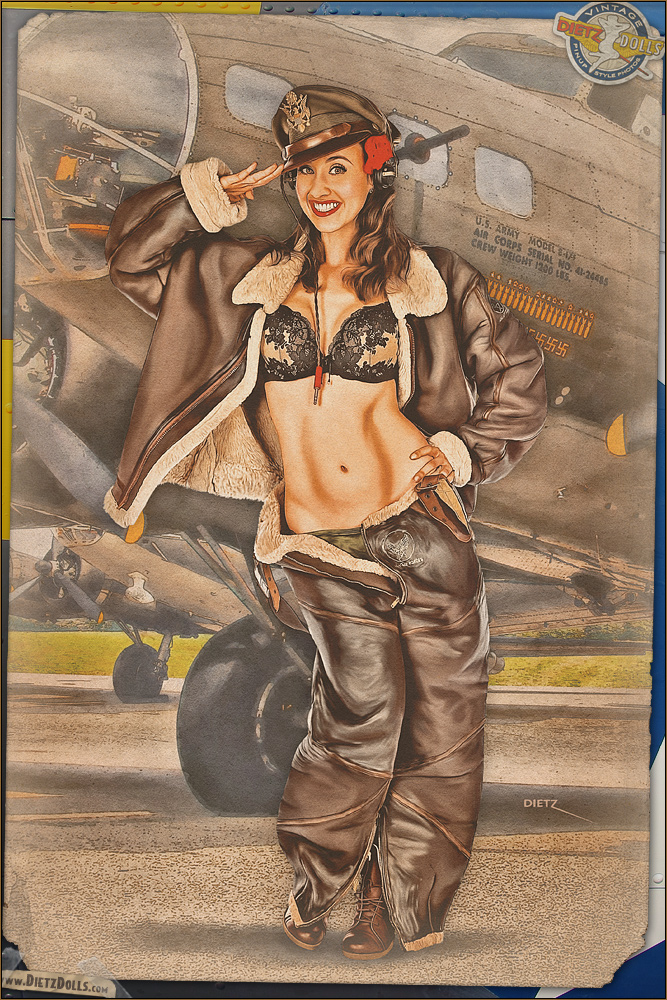 Pinups - 8th Air Force Salute by warbirdphotographer