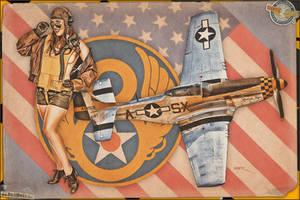 Aviation Pinups - P-51 Mustang by warbirdphotographer