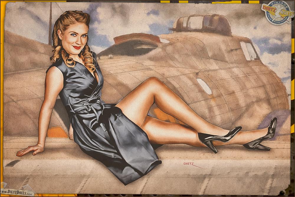 Pinups - Bomber Beauty by warbirdphotographer