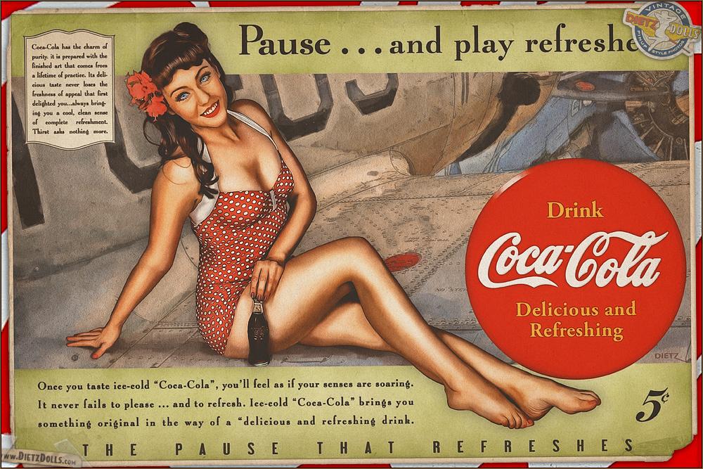 Pinups - Coca Cola by warbirdphotographer on DeviantArt