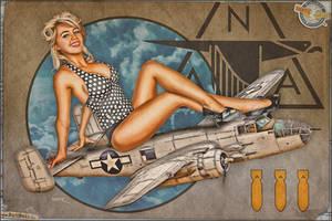 Aviation Pinups - B-25 Mitchell