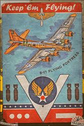 Aviation Poster Series - B-17 Flying Fortress by warbirdphotographer