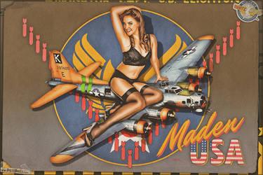 Nose Art - 'Maden USA' by warbirdphotographer