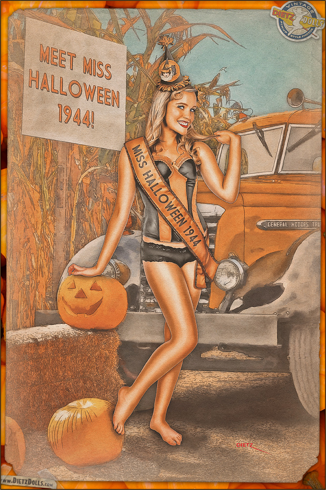 Pinups - Miss Halloween 1944 by warbirdphotographer