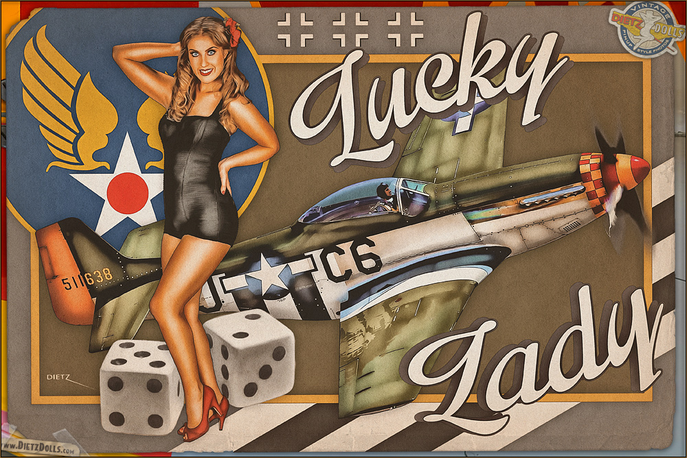 Nose Art - 'Lucky Lady' by warbirdphotographer