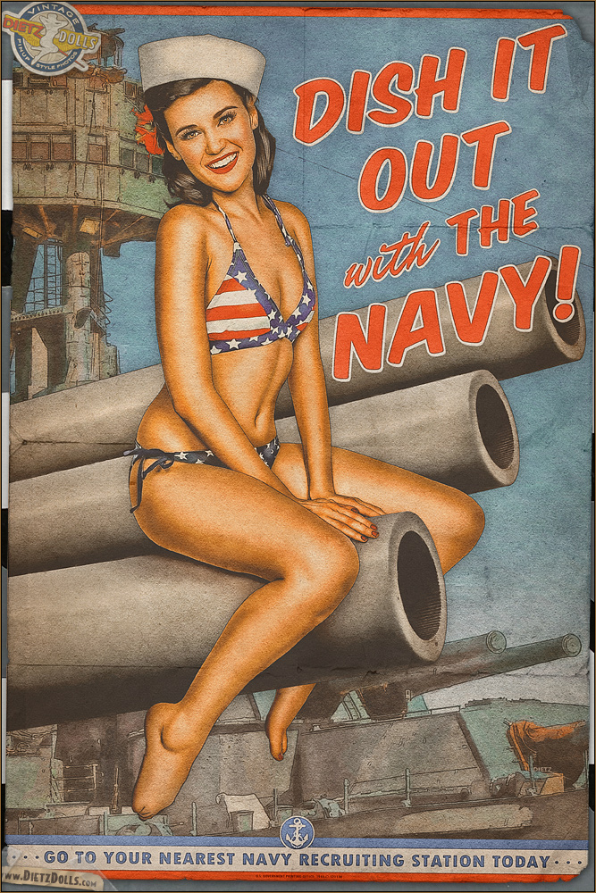Propaganda Pinups - Dish it out with the Navy! by warbirdphotographer