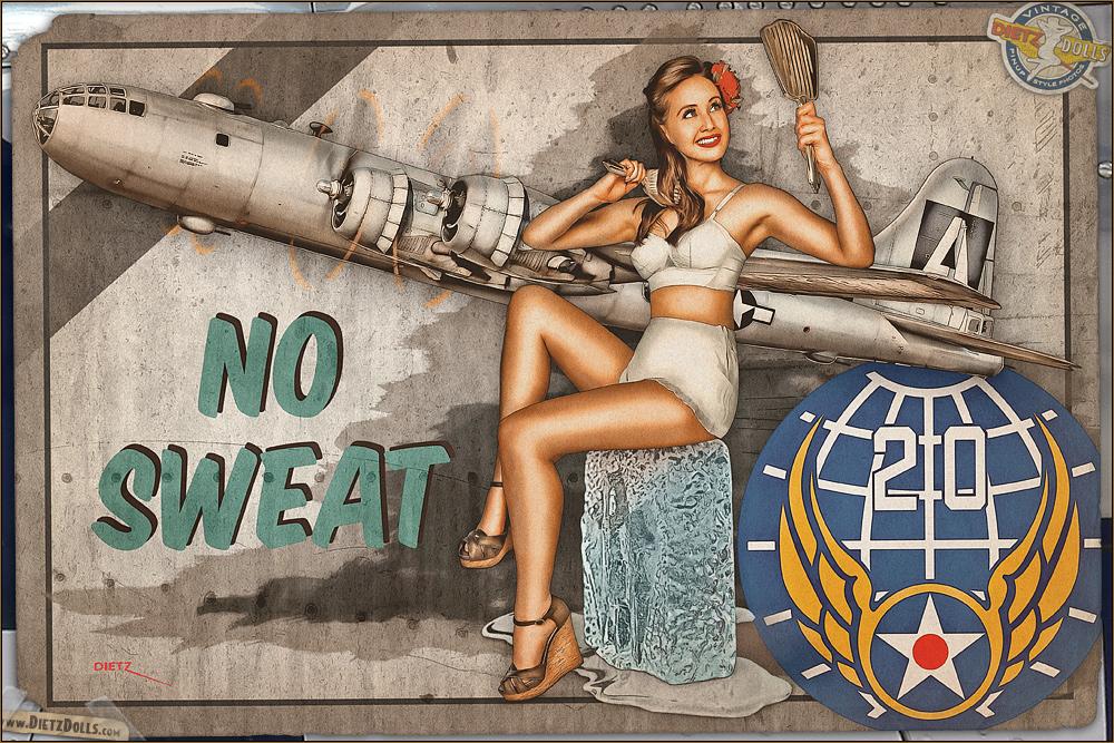 Nose Art - 'No Sweat' by warbirdphotographer